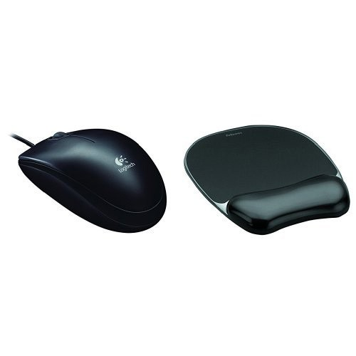 LOGITECH BLACK USB OPTICAL MOUSE B100
