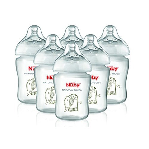 Nuby Baby Bottles Natural Touch 270 ml (Pack of 6)
