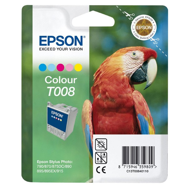 Epson T008 Multipack 5 Colour Ink Cartridge ( C13T00840110 )