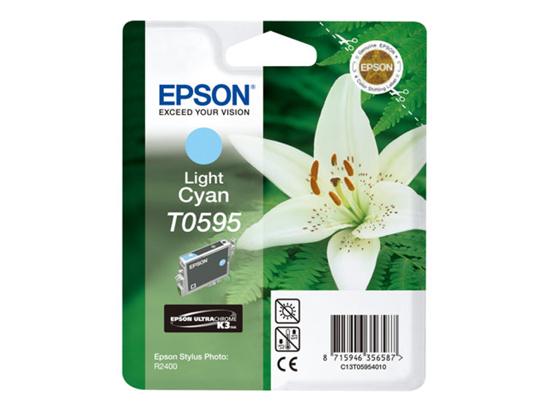 Epson Lilly T0595 Light Cyan Ink Cartridge (C13T05954010 , EPT059540)