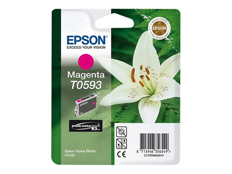 Epson Lilly T0593 Magenta Ink Cartridge ( C13T05934010 , EPT059340 )