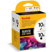 Kodak 10B Black and 10C Colour Combo Pack Ink (3947058, 394706)