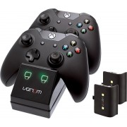 Venom Xbox One Twin Docking Station with 2 x Rechargeable Battery Packs: Black (Xbox One / Xbox One S / Xbox One X)