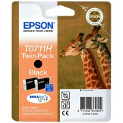 Epson T0711H Twin Pack Black Ink Cartridges - C13T07114H10