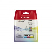 Canon CLI-521 Ink Cartridges, Multipack ( C/M/Y ) - 2934B010