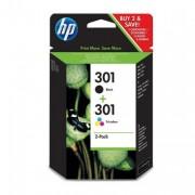 HP 301 Black/Tri-Colour Ink Cartridges - N9J72AE