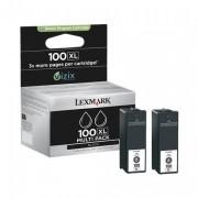 Lexmark 100XL Black Twin Pack Ink Cartridge  ( 14N0848 )