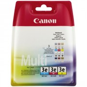 Canon BCI-3E Tri Color Ink Cartridge Multipack (CABCI3CMY, 44801265AA)