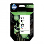 HP 21 Black/22 Tri-color 2-Packs Ink Cartridges, Original (SD367AE)