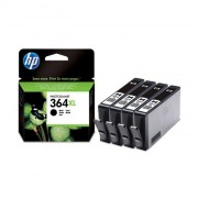 HP 364XL 4-Pack Black Ink Cartridges ( CN684EE )