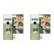 Epson Fox T1281 Black Inkjet Cartridge Twin pack ( C13T12814011 )