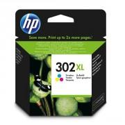 HP 302XL Tri-Colour Original Ink Cartridges - F6U67AE