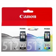 Canon PG-512 Black and CL-513 Colour Combo pack ( 2969B001AA ,  2971B001AA )