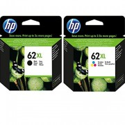 HP 62XL Black & Colour Ink Cartridges, Bundle Pack